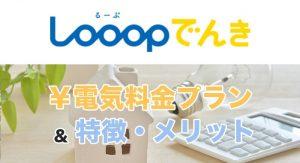 Looopでんき(ループでんき)の電気料金プランと特徴・メリット